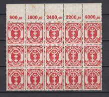 Danzig - 1923 - Michel Nr. 140 Bogenteil P OR - Postfrisch - 60 Euro - Danzig