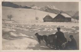GSTAAD IM  WINTER (SUISSE)  POSTDIENST - ATTELAGE DE CHIEN - FACTEUR DU SERVICE POSTA L - (1928 - 2 SCANS) - BE Berne