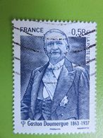Timbre France YT 4793 - Personnalité - Gaston Doumergue - Détail Du Portrait Présidentiel - 2013 - Used Stamps