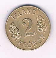 2 KRONUR  1946 IJSLAND /5627/ - Islanda