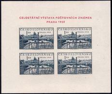 ✔️ Tsjechoslowakei 1950 - Philatelic Expo Prag Kleinbogen Minisheet - Mi. Block 12 ** MNH - Blocs-feuillets
