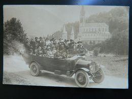 CARTE PHOTO          AUTOBUS    VOITURE TAXI          LIEU A IDENTIFIER - France