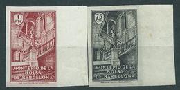 Barcelona Pruebas Y Ensayos Montepio De La Bolsa De Barcelona Dt� Y Sin Dentar - Barcelona