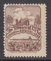 Asturias Y Le�n Correo 1936 Edifil 6 ** Mnh - Asturias & Leon