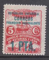 Asturias Y Le�n Correo 1937 Edifil 10 ** Mnh - Asturias & Leon