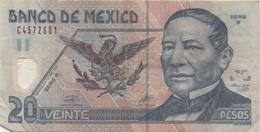 Mexique Mexico : 20 Pesos 2001 En Plastique : Mauvais état - Mexique