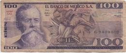 Mexique Mexico : 100 Pesos 1982 Mauvais état - Mexique