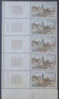 R1337/377 - 1973 - ABBAYE DE CHARLIEU - N°1713 BANDE DE 5 TIMBRES NEUFS** CD : 29.5.73 - France