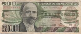 Mexique Mexico : 500 Pesos 1983 Moyen état - Mexique
