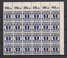 Danzig - 1922 - Michel Nr. 123 Y Bogenteil P OR Ecke - Postfrisch - 90 Euro - Danzig