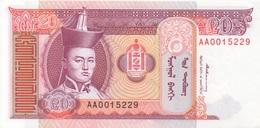 Mongolie : 20 Tugrik 200x UNC - Mongolia
