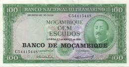 Mozambique : 100 Escudos 1961 Très Bon état - Mozambique