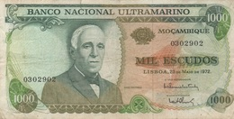 Mozambique : 1000 Escudos 1972 Mauvais état - Mozambique
