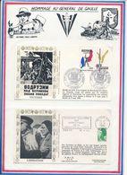 FRANCE - ENV. OBLI 40E ANNIV FIN DE LA GUERRE COLOMBES 8.5.85 + ENV. OBLI 40E ANNIV LIBERATION ARIEGE FOIX 19.8.84 - Guerre Mondiale (Seconde)