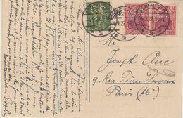 "ALLEMAGNE : TIMBRES PERFORES CC . CP . DU CASINO DE "" EBERFELD "" . 1922 - Briefe U. Dokumente"