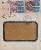 """ITALIE : N° 12 . 4 EX . TIMBRE PUBLICITAIRE. DE """" MONTEL """" . REC DE PALERME . 1924 . ( CATALOGUE SASSONE ) . - Storia Postale"""