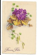 C. KLEIN - Bouquet De Violettes Et Feuilles De Chêne...  Bonne Fête - Klein, Catharina