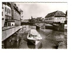 67 Strasbourg Le Pont Saint MArtin Et La Vedette Charles Frey Bateau CPSM GF Edit Estel - Strasbourg