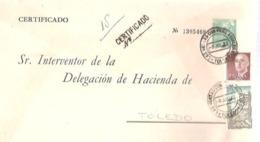 SEP FRANCO  CIRCULADO  CERTIFICADOLAS VENTAS CON PEÑA AGUILERA   TOLEDO - 1931-....