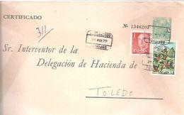 SEP FRANCO  CIRCULADO  CERTIFICADO  TORRIJOS  TOLEDO - 1931-....