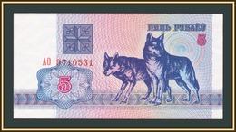 Belarus 5 Rubles 1992 P-4 UNC - Wit-Rusland