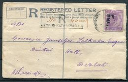 1910 India Registered Letter Jetpur Kathiawari - Devlali - 1902-11 King Edward VII