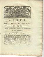 1787- ARRET DU CONSEIL D ETAT DU ROI- REGLEMENT PECHE DES HUITRES DANS LA BAIE DE CANCALE- 10 FEUILLET- TB - Wetten & Decreten