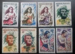 Lot ♥ Polynésie Française YT 2/9 - Polynésiens  - 1958- Oblitéré - Polinesia Francese