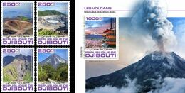 Djibouti 2020, Vulcans, 4val +BF - Volcanos