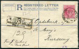 1910 India Registered Letter Wellesley Street, Calcutta - St.Mary's Hill Church, Kurseong Darjeeling - 1902-11 King Edward VII