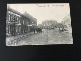 CP Bourg- Léopold : Vue Sur La Gare + Attelages (1914) - Leopoldsburg