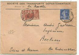JAURES 40C +10C SEMEUSE LETTRE METZ MOSELLE 11.6.1937 AU TARIF - Marcophilie (Lettres)
