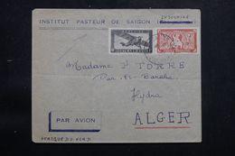 INDOCHINE - Enveloppe De L 'Institut Pasteur De Saïgon Pour Alger Par Avion - L 65411 - Storia Postale