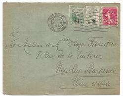 N°164+165+191 LETTRE PARIS VIII 4.II.1932   AU TARIF - Marcophilie (Lettres)