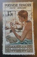 ♥ Polynésie Française YT PA 1 - Graveur Sur Nacre  - 1958- Oblitéré - Polinesia Francese