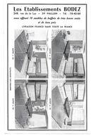 PUB 1967 Meubles Bodez HALLUIN Nord 59 - Publicidad