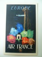 CPA / Carte Postale Ancienne / Publicité AIR FRANCE Europe - Reclame