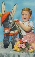 Petit Garçon Et Son Ane Jouet En Peluche .  Teddy Donkey. - Donkeys
