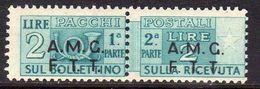 TRIESTE A 1947 -1948 AMG-FTT OVERPRINTED PACCHI POSTALI PARCEL POST LIRE 2 MNH - Paketmarken/Konzessionen