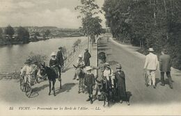 Promenade à Ane Au Bord De L' Allier . Vichy . Donkey Riding. Envoi à Charrecey 71 - Donkeys