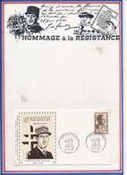 FRANCE - ENV. DE GAULLE OBLI 40E ANNIV DE LA MORT DE JEAN MOULIN HOMMAGE DE LA NATION METZ 18.06.83 - De Gaulle (Général)