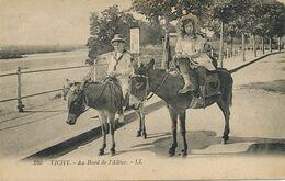Promenade à Ane Au Bord De L' Allier . Vichy . Donkey Riding. Close Up . Enfants - Donkeys