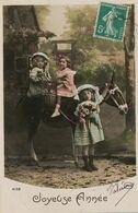 Promenade à Ane. Donkey Riding Enfants. Fake Donkey Made Of Wood . Ane En Bois. Envoi à Détilly , Beaumont  Par Avoine - Donkeys