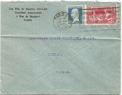 JEUX OLYMPIQUES 25C+ 50C PASTEUR LETTRE COVER PARIS DEPART 23.VII.1924 POUR SUISSE  AU TARIF - Marcophilie (Lettres)