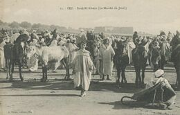 Fez Morocco Souk El Khmis . Thursday Market ; Donkey Market ; Marché Aux Anes Du Jeudi  Edit Pleux - Donkeys