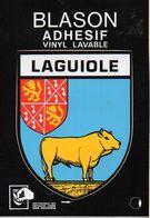 12 LAGUIOLE - Blason Adhésif. Vinyl Lavable - Editions CAP-THEOJAC - BE - Laguiole