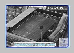 CARTE De Stade De: LIVERPOOL   ** EVERTON**  ANGLETERRE    GODISON  PARK  1966   # REFERENCE . D.M. 030 - Soccer