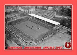 CARTE De Stade De: LIVERPOOL  ANGLETERRE    ANFIELD  1950   # REFERENCE . D.M. 031 - Soccer