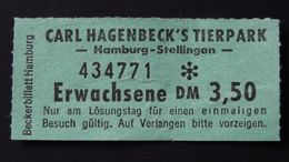 Germany - 1972 - Entrance Ticket Carl Hagenbeck's Tierpark Hamburg-Stellingen - Autres Collections