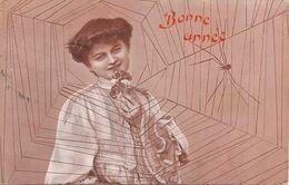 Araignée Spider Art Card Beautiful Woman  Envoi De Bex Suisse . - Insects